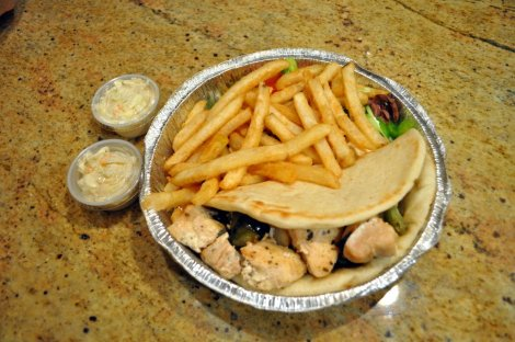 Chicken gyro platter