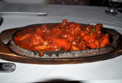 SIzzling chicken with tangra sauce